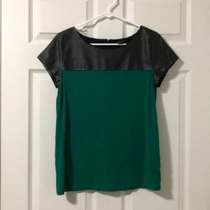 ❗️SALE A.N.A Green Leather Top
